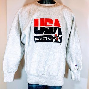 90's VTG Champion Reverse Weave USA Basketball
